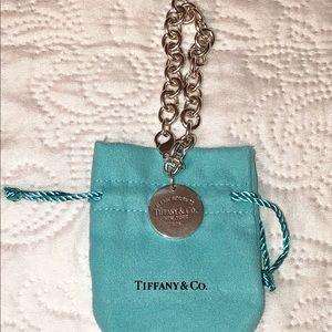 Tiffany & Co. Silver Round Tag Charm Bracelet